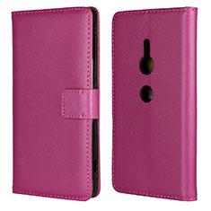 Handytasche Stand Schutzhülle Leder Hülle L04 für Sony Xperia XZ2 Pink