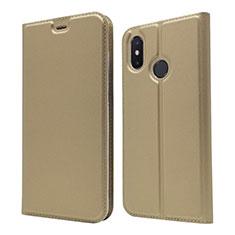 Handytasche Stand Schutzhülle Leder Hülle L04 für Xiaomi Mi 8 Gold