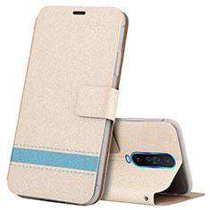 Handytasche Stand Schutzhülle Leder Hülle L04 für Xiaomi Poco X2 Gold
