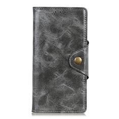 Handytasche Stand Schutzhülle Leder Hülle L05 für Alcatel 3X Grau