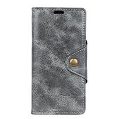 Handytasche Stand Schutzhülle Leder Hülle L05 für Asus Zenfone 5 ZS620KL Grau