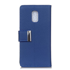 Handytasche Stand Schutzhülle Leder Hülle L05 für Asus ZenFone V Live Blau