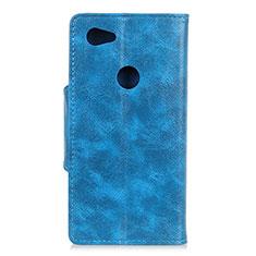Handytasche Stand Schutzhülle Leder Hülle L05 für Google Pixel 3a XL Blau