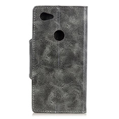 Handytasche Stand Schutzhülle Leder Hülle L05 für Google Pixel 3a XL Grau
