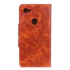 Handytasche Stand Schutzhülle Leder Hülle L05 für Google Pixel 3a XL Orange