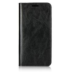 Handytasche Stand Schutzhülle Leder Hülle L05 für Huawei P20 Schwarz