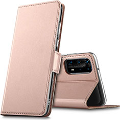 Handytasche Stand Schutzhülle Leder Hülle L05 für Huawei P40 Pro+ Plus Rosegold