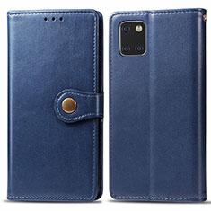 Handytasche Stand Schutzhülle Leder Hülle L05 für Samsung Galaxy A81 Blau