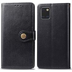Handytasche Stand Schutzhülle Leder Hülle L05 für Samsung Galaxy A81 Schwarz