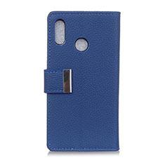 Handytasche Stand Schutzhülle Leder Hülle L06 für Asus Zenfone 5 ZE620KL Blau
