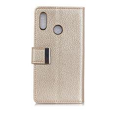 Handytasche Stand Schutzhülle Leder Hülle L06 für Asus Zenfone 5 ZS620KL Gold