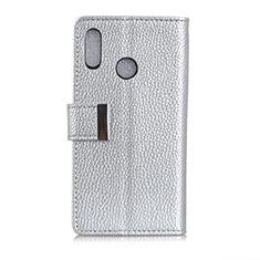 Handytasche Stand Schutzhülle Leder Hülle L06 für Asus Zenfone 5 ZS620KL Silber