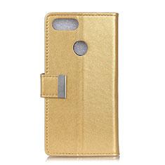 Handytasche Stand Schutzhülle Leder Hülle L06 für Asus Zenfone Max Plus M1 ZB570TL Gold