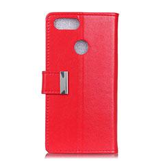 Handytasche Stand Schutzhülle Leder Hülle L06 für Asus Zenfone Max Plus M1 ZB570TL Rot