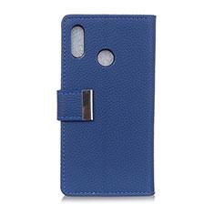 Handytasche Stand Schutzhülle Leder Hülle L06 für Asus Zenfone Max ZB555KL Blau