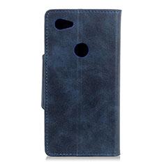 Handytasche Stand Schutzhülle Leder Hülle L06 für Google Pixel 3a XL Blau