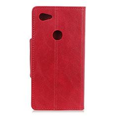 Handytasche Stand Schutzhülle Leder Hülle L06 für Google Pixel 3a XL Rot