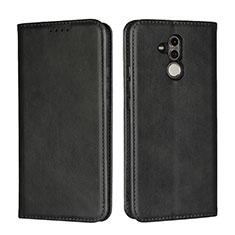 Handytasche Stand Schutzhülle Leder Hülle L06 für Huawei Mate 20 Lite Schwarz