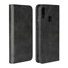 Handytasche Stand Schutzhülle Leder Hülle L06 für Huawei P Smart (2019) Schwarz