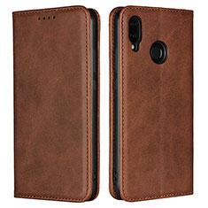 Handytasche Stand Schutzhülle Leder Hülle L06 für Huawei P20 Lite Braun