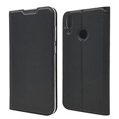 Handytasche Stand Schutzhülle Leder Hülle L06 für Huawei Y7 (2019) Schwarz