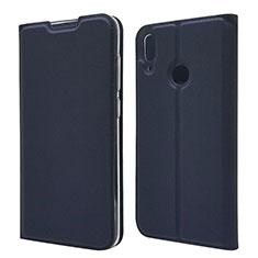 Handytasche Stand Schutzhülle Leder Hülle L06 für Huawei Y7 Pro (2019) Blau
