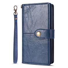Handytasche Stand Schutzhülle Leder Hülle L06 für Samsung Galaxy S20 Ultra 5G Blau