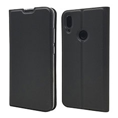 Handytasche Stand Schutzhülle Leder Hülle L06 für Xiaomi Redmi Note 7 Pro Schwarz