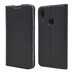 Handytasche Stand Schutzhülle Leder Hülle L06 für Xiaomi Redmi Note 7 Schwarz