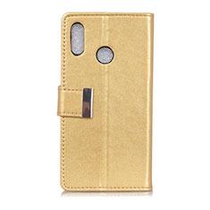 Handytasche Stand Schutzhülle Leder Hülle L07 für Asus Zenfone 5 ZS620KL Gold