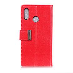 Handytasche Stand Schutzhülle Leder Hülle L07 für Asus Zenfone 5 ZS620KL Rot