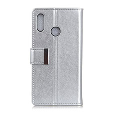 Handytasche Stand Schutzhülle Leder Hülle L07 für Asus Zenfone 5 ZS620KL Silber