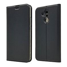 Handytasche Stand Schutzhülle Leder Hülle L07 für Huawei Mate 20 Lite Schwarz
