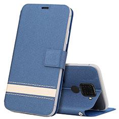 Handytasche Stand Schutzhülle Leder Hülle L07 für Huawei Nova 5z Blau