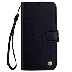 Handytasche Stand Schutzhülle Leder Hülle L07 für Huawei P20 Lite Schwarz