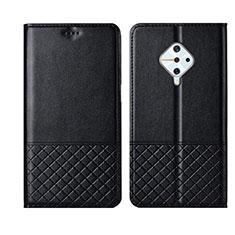 Handytasche Stand Schutzhülle Leder Hülle L07 für Vivo X50 Lite Schwarz