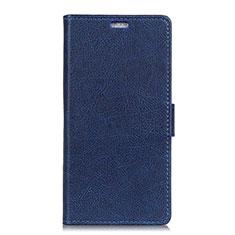 Handytasche Stand Schutzhülle Leder Hülle L08 für Asus Zenfone 5 ZE620KL Blau