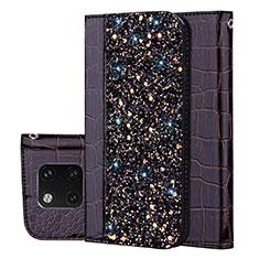 Handytasche Stand Schutzhülle Leder Hülle L08 für Huawei Mate 20 Pro Schwarz