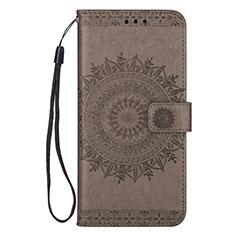 Handytasche Stand Schutzhülle Leder Hülle L08 für Samsung Galaxy S20 Plus 5G Grau