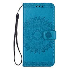 Handytasche Stand Schutzhülle Leder Hülle L09 für Samsung Galaxy S20 Ultra 5G Blau