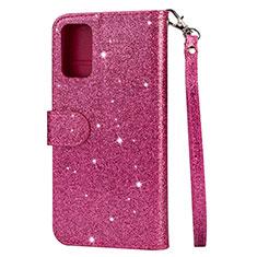 Handytasche Stand Schutzhülle Leder Hülle L10 für Samsung Galaxy S20 Plus 5G Pink