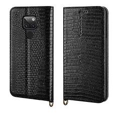Handytasche Stand Schutzhülle Leder Hülle L11 für Huawei Mate 20 Schwarz