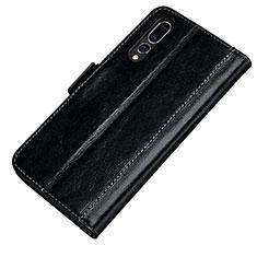 Handytasche Stand Schutzhülle Leder Hülle P01 für Huawei P20 Pro Schwarz