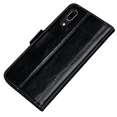 Handytasche Stand Schutzhülle Leder Hülle P01 für Huawei P20 Schwarz