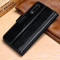Handytasche Stand Schutzhülle Leder Hülle P01 für Huawei P30 Schwarz
