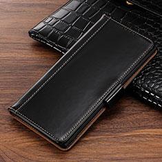 Handytasche Stand Schutzhülle Leder Hülle P01 für Samsung Galaxy Note 10 Schwarz