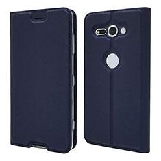 Handytasche Stand Schutzhülle Leder Hülle P01 für Sony Xperia XZ2 Compact Blau