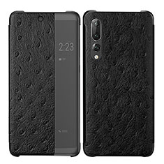 Handytasche Stand Schutzhülle Leder Hülle P02 für Huawei P20 Pro Schwarz