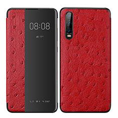 Handytasche Stand Schutzhülle Leder Hülle P02 für Huawei P30 Rot