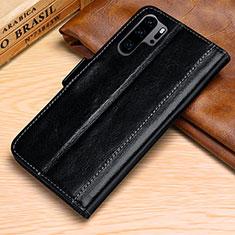 Handytasche Stand Schutzhülle Leder Hülle P03 für Huawei P30 Pro Schwarz